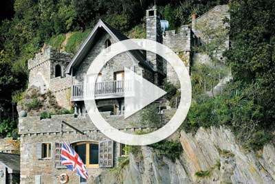 Cliff Face Boathouse Exterior