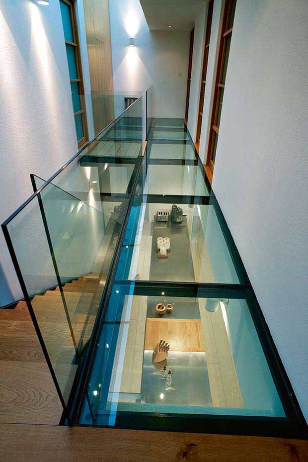 Glass floor in Stan Bolt home in Devon