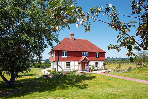 traditional style country home that took 7 months to build