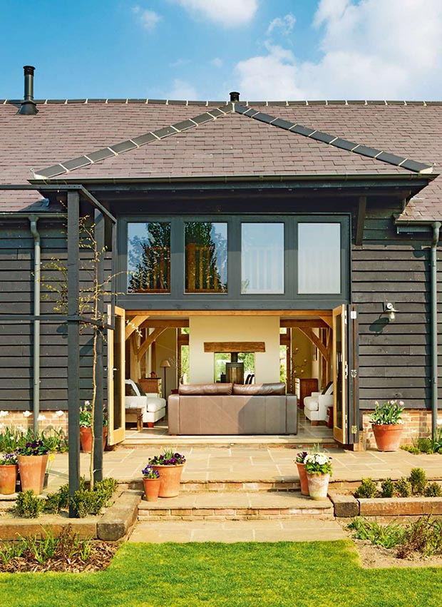 eco home converted from a derelict barn