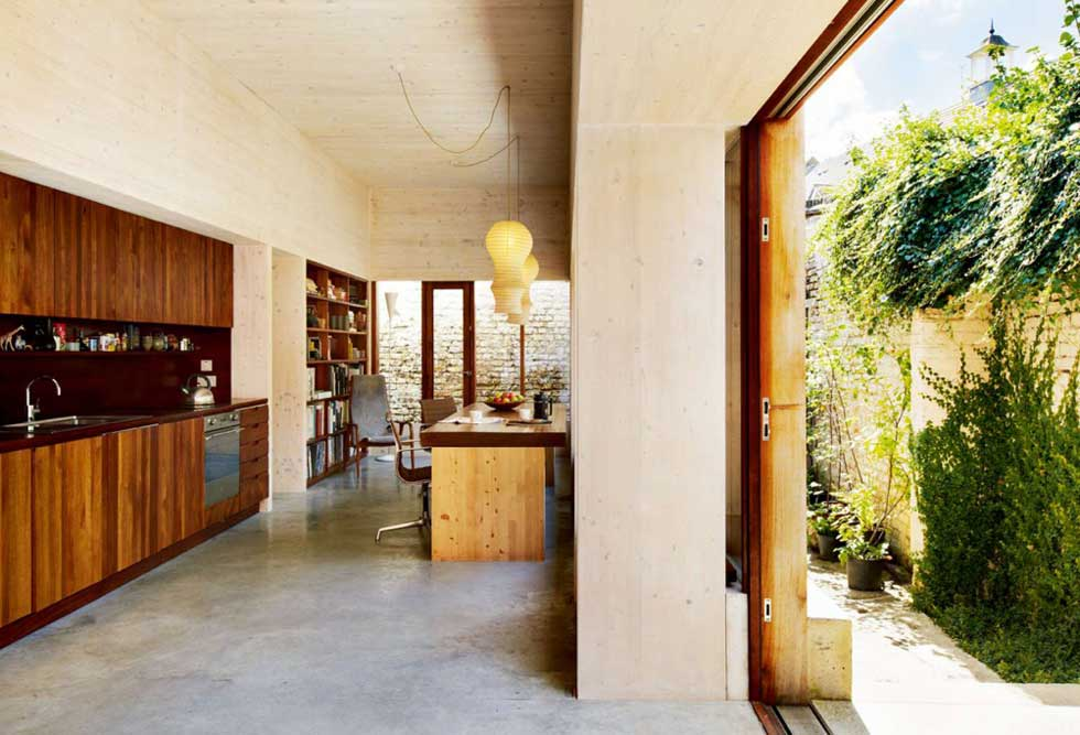 concrete floor home. Polished Concrete Floor In A Small Urban Home E