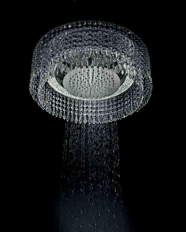 Bisazza Bagno Chandelier Shower Head by Marcel Wanders