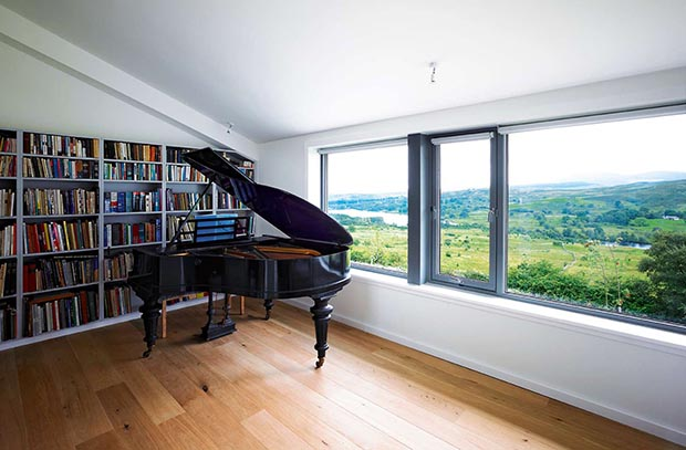 eco home built on a hillside