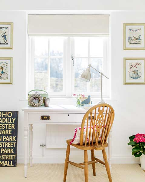 traditional desk area Cotswold home