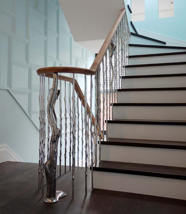 Thorn balustrade made from aluminium or bronze