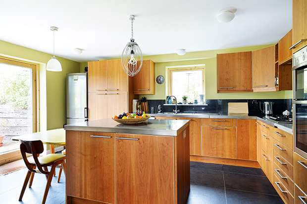 Rickey's kitchen with whisk light pendant