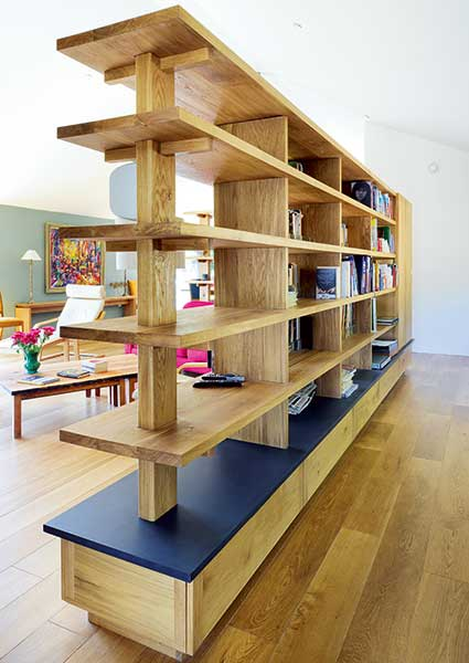 room divider wooden bookshelf