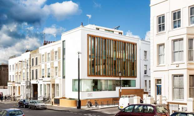 unique home on an infill plot in Notting Hill