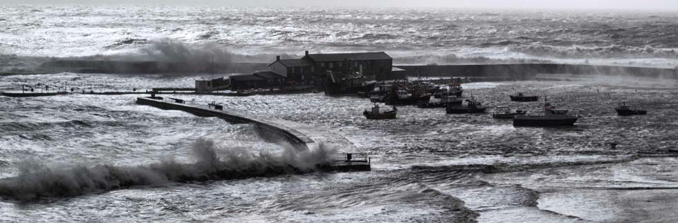 Lyme Regis in the storms February 2013