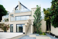 A contemporary home on a sloping site