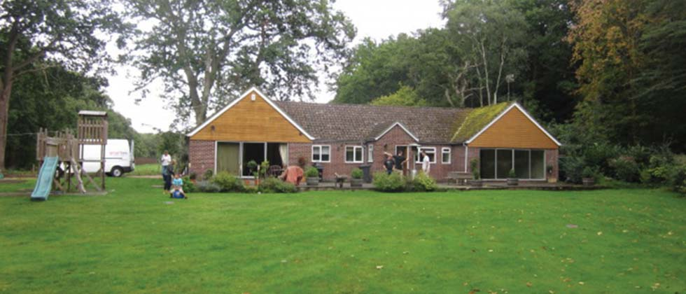The bungalow before extension