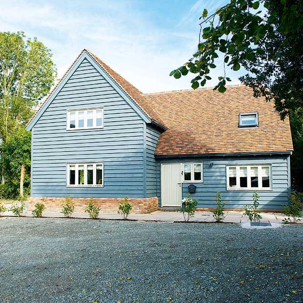A Barn-style house built on a budget