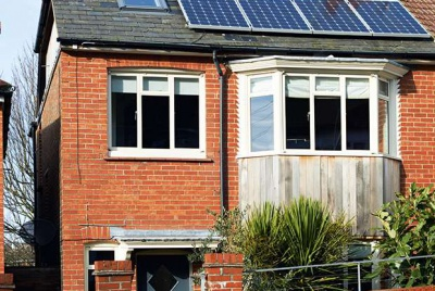 exterior view of eco remodelled home