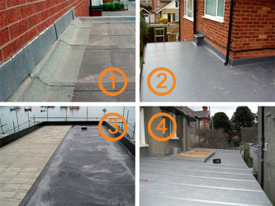 Surveying a flat roof homebuilding renovating for Types of roof covering materials