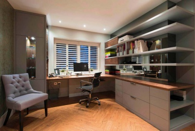 Home office designed by Barbara Genda