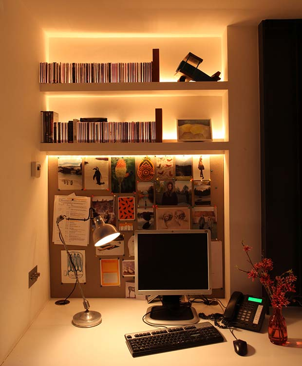 Home Office With A John Cullen Lighting Scheme