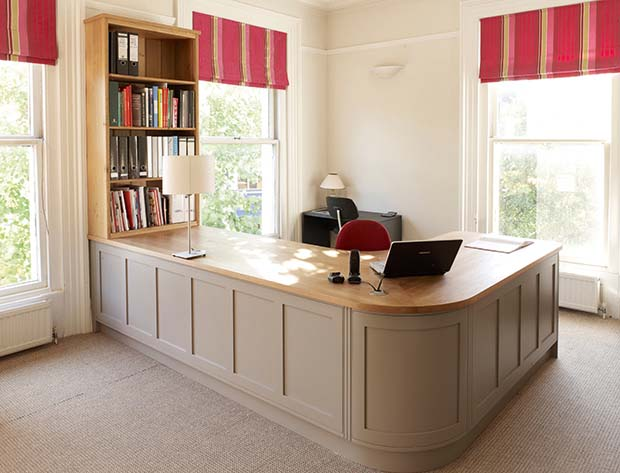 Classic home office with storage solutions from Rencraft