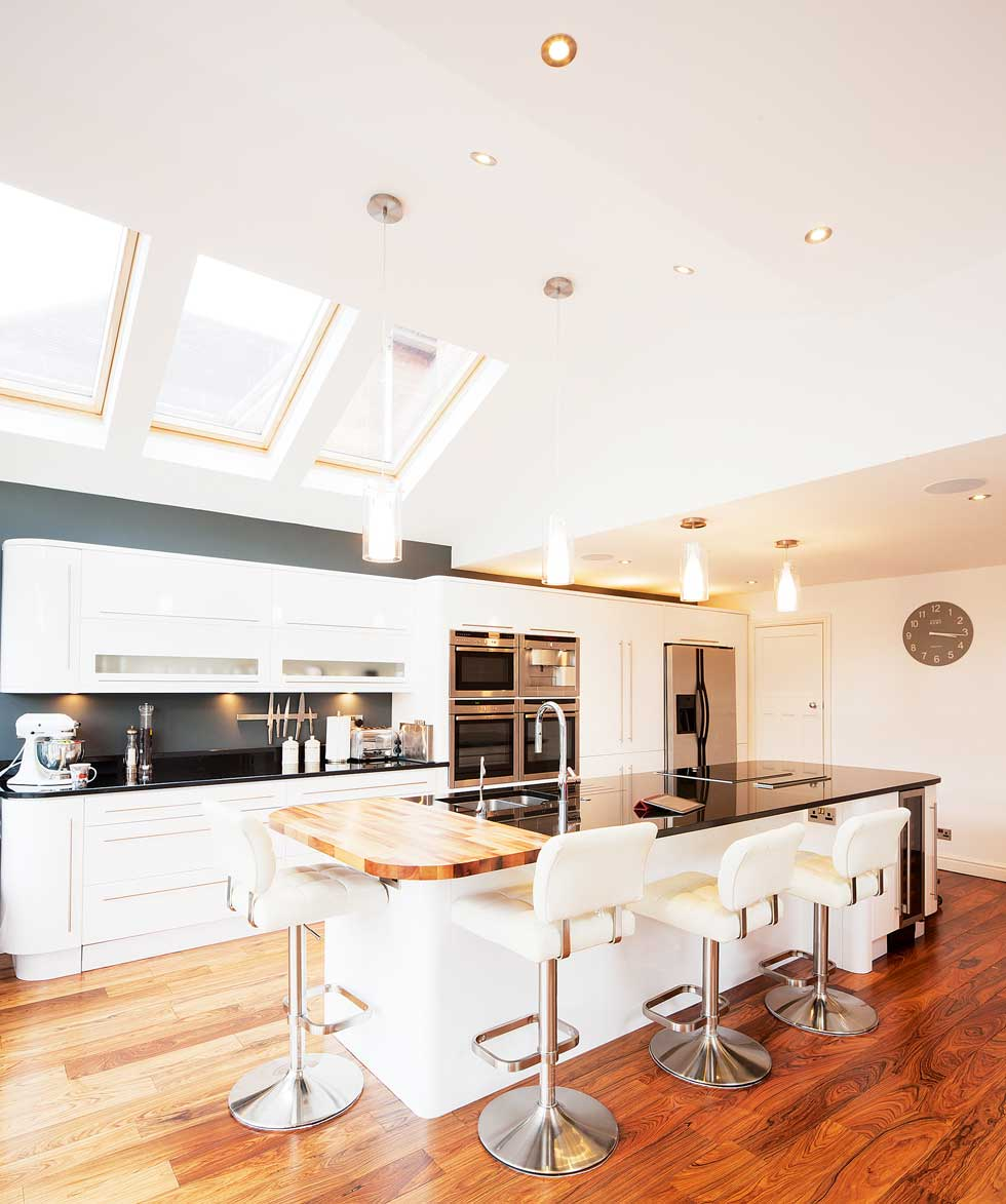Glazed kitchen extension homebuilding renovating Extension cuisine