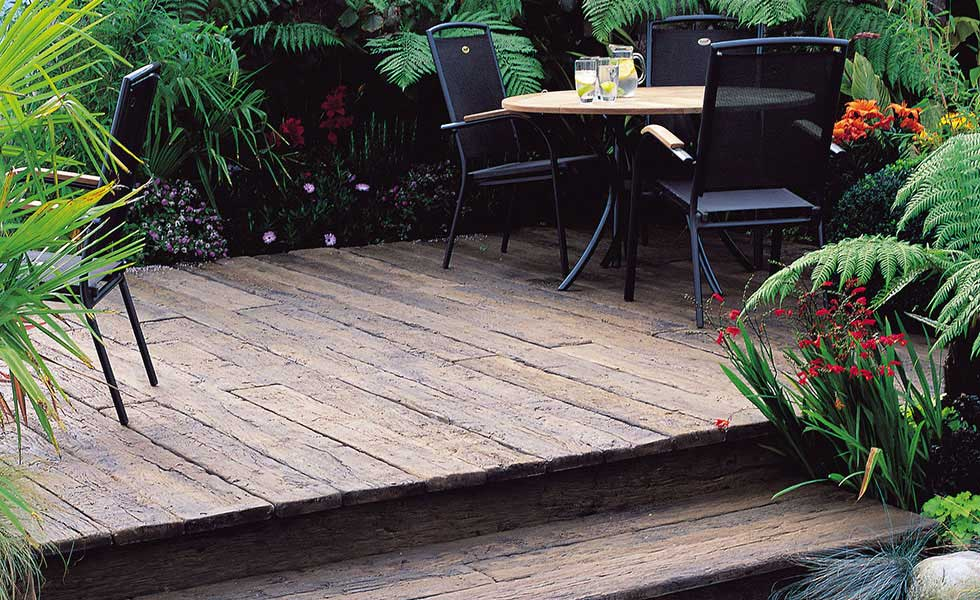 Decking for a small space by Garden House Design