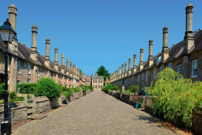 Vicar Close in Wells in Somerset is the oldest residential street in the UK