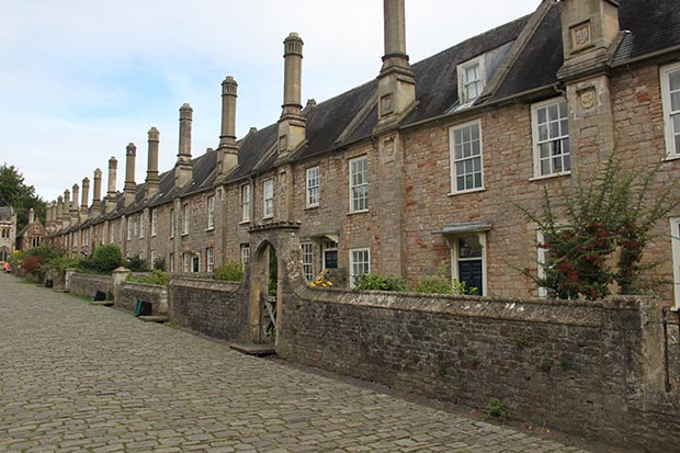 Vicar's Close in Wells Somerset which is one of Britain's oldest residential streets