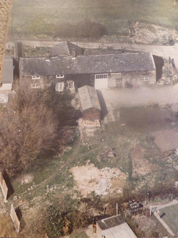 An aerial view of Highlands Farm circa 1989
