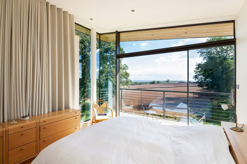 View from the bedroom window of a self build in Monmouthshire