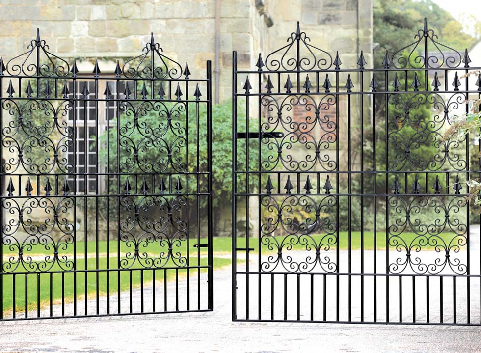 Royal Monarch wrought iron gates from Cannock Gates