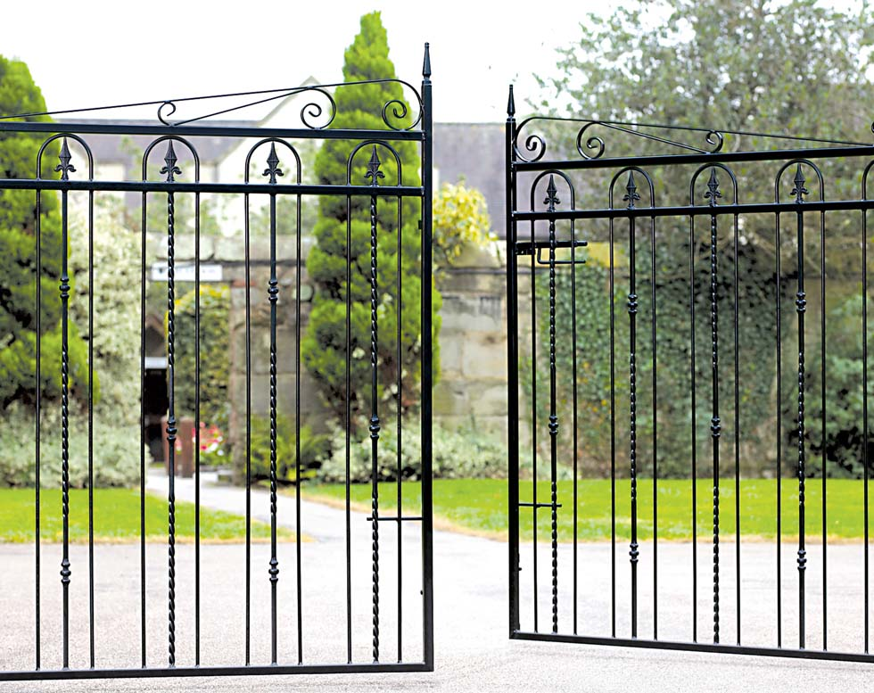 Windsor wrought iron gates from Cannock Gates
