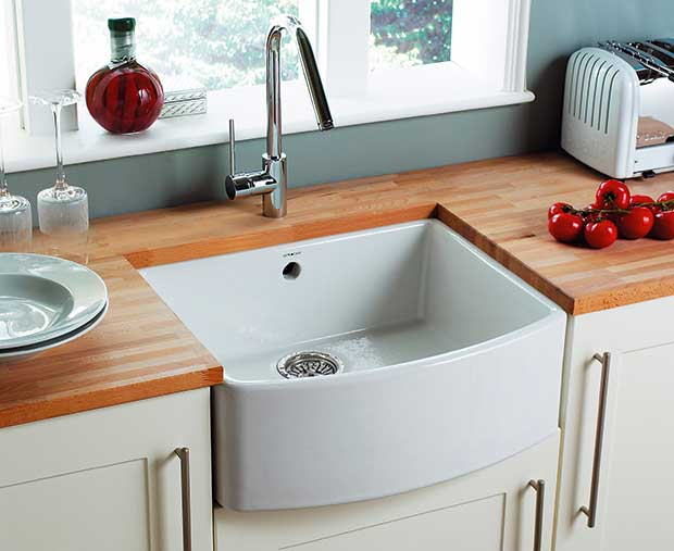 Astracast's bow-fronted Edinburgh sink