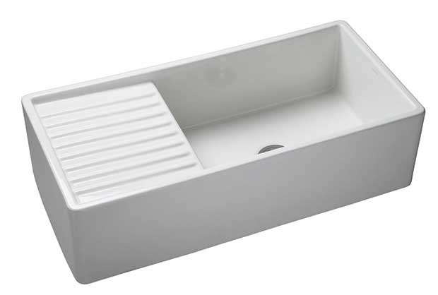 Kallista Fireclay Kitchen Sink With Drainer
