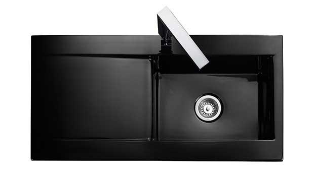 The Nevada sink in black ceramic, from Rangemaster