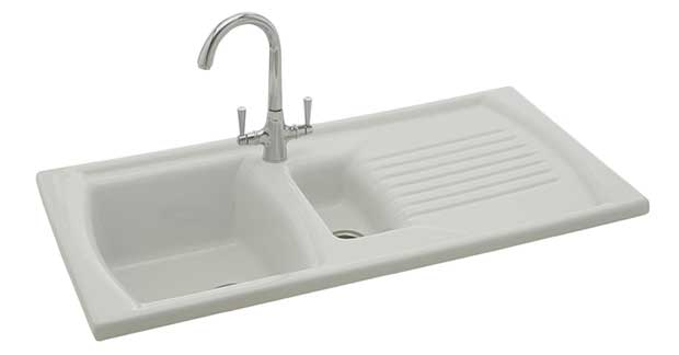 The Solaris 150 inset 1.5 bowl sink from Carron Phoenix