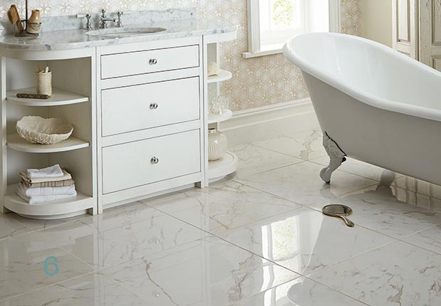 fired earths north beach monthomery porcelain floor tile in marble effect - Images Of Bathroom Floors