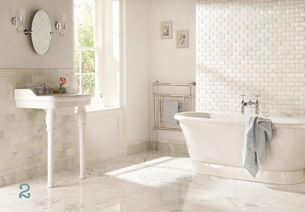 Original Style's Viano White polished marble