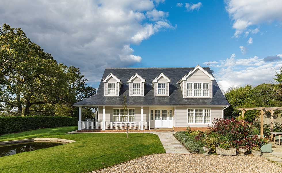 A New England-style home in East Sussex