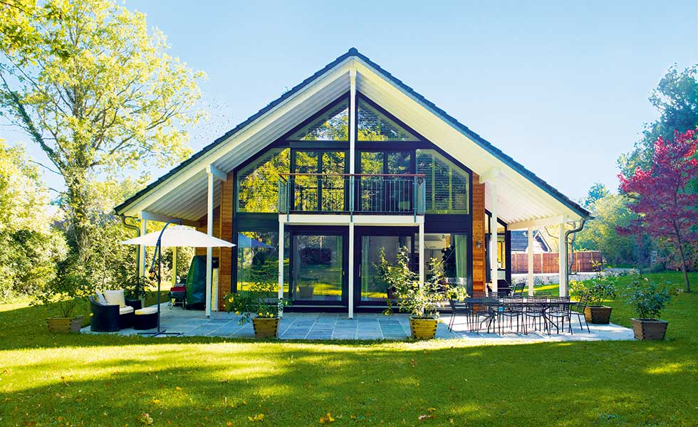 German package home with large glazed expanses