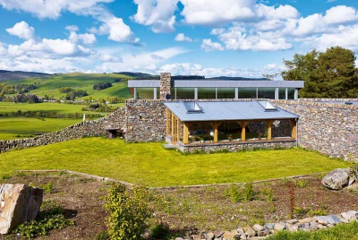 A sustainable farmhouse built from locally sourced materials