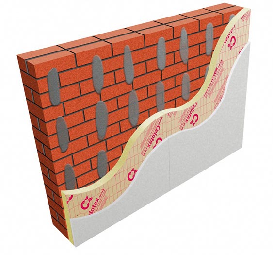 How to insulate a wall homebuilding renovating celotex internal insulation solution for solid walls offering dot and dab application solutioingenieria Choice Image