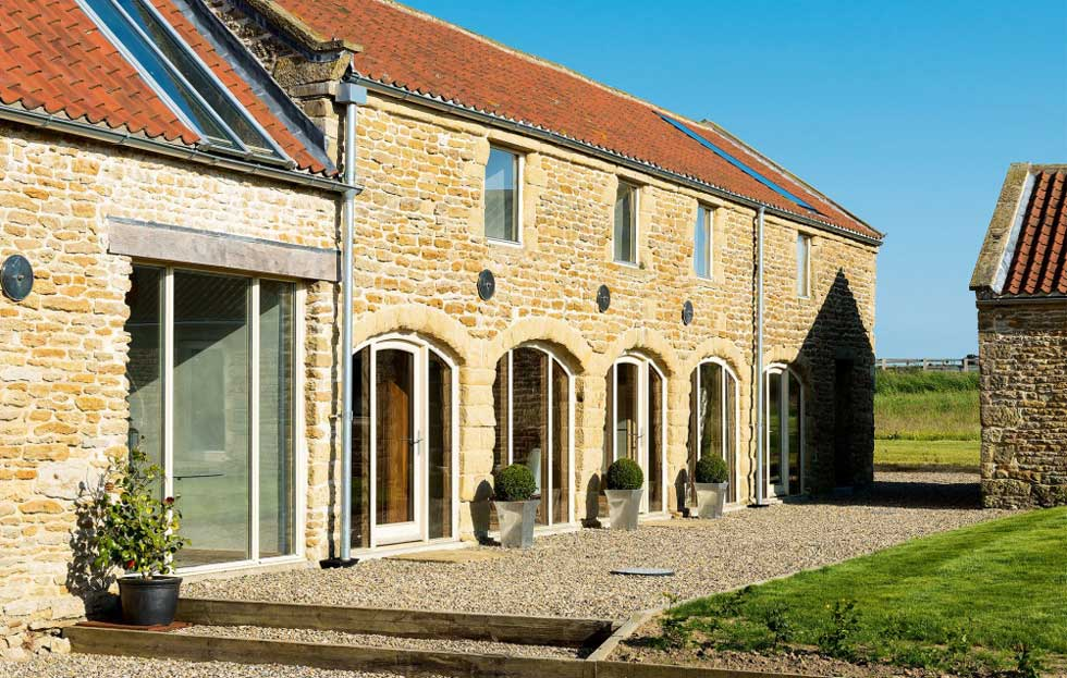 The exterior of the converted barn