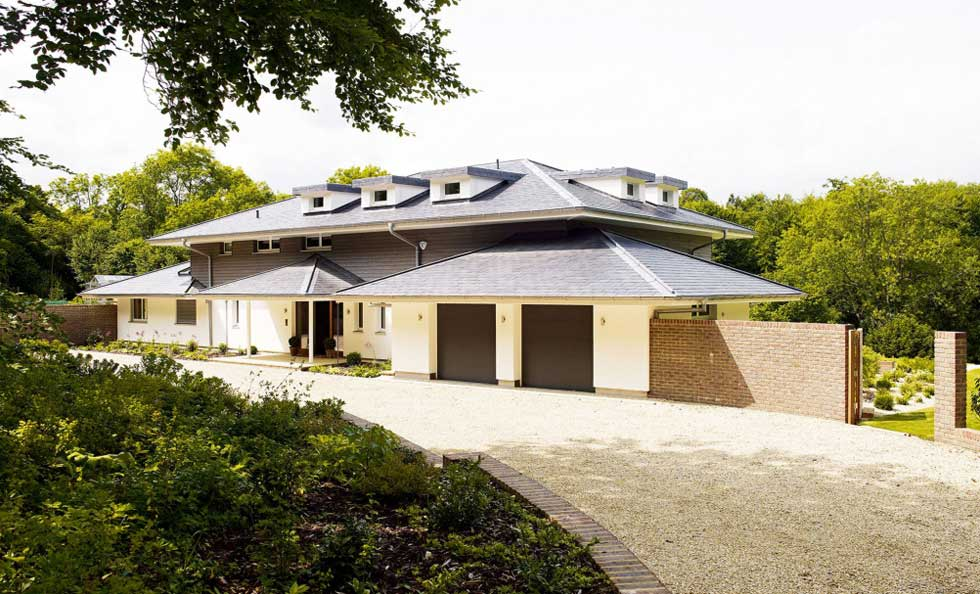 A sustainable prefabricated ranch-style house