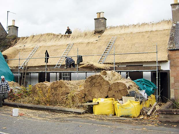 The thatching process