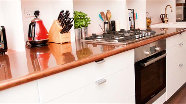 Copper worktop from Tipfords worktops