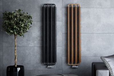 ribbon radiator copper and black vertical