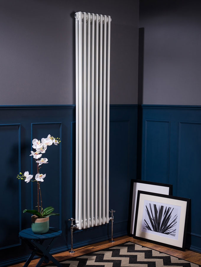 traditional radiator in contemporary house
