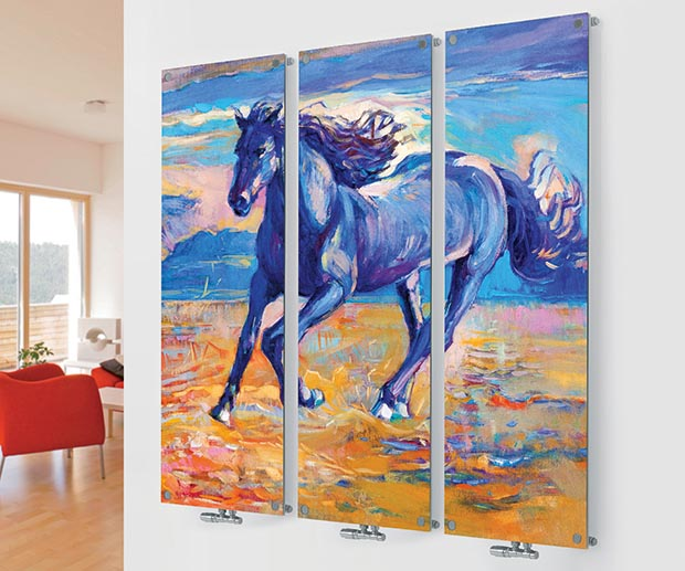 Horse Painting Radiator From Glass Designer M10 Horse Triple Image From  Agadon Part 97