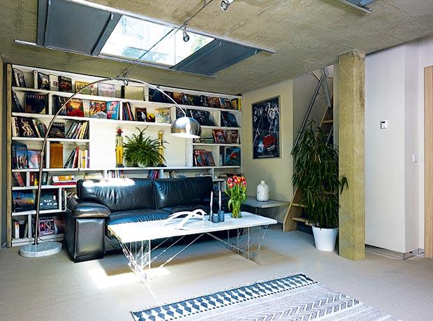 A cosy basement room