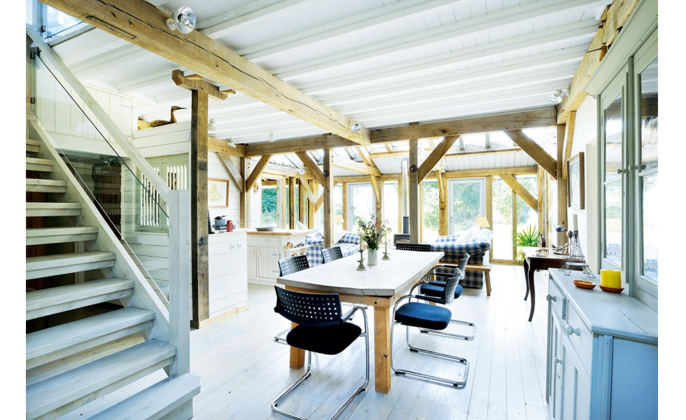 A well proportioned open plan space