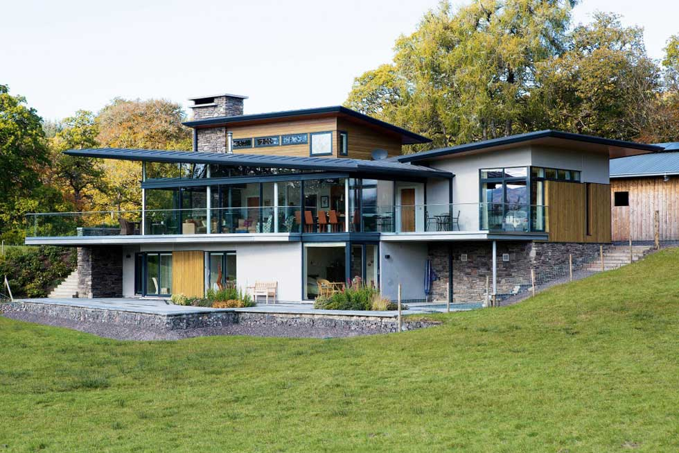 A Steel Frame And Stone Home Homebuilding Amp Renovating