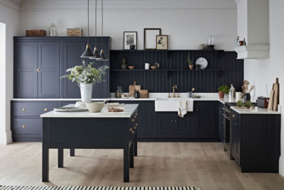 Charcoal and bronze kitchen